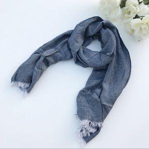 Zara Man Scarf  Gray Blue